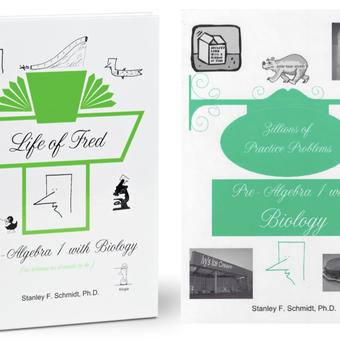 Life of Fred Math, kit #6 de 2 libros reutilizables