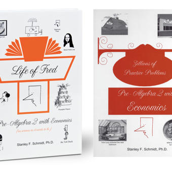 Life of Fred Math, kit #7 de 2 libros reutilizables