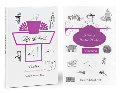 Life of Fred Math, kit #3 de 2 libros reutilizables
