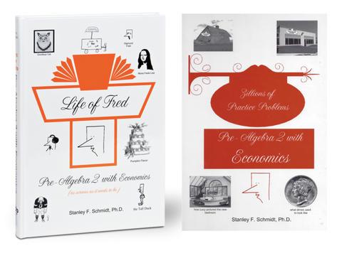 Life of Fred Math, kit #7 de 2 libros reutilizables