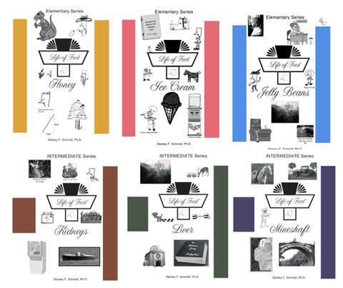 Life of Fred Math, kit #2 de 6 libros reutilizables